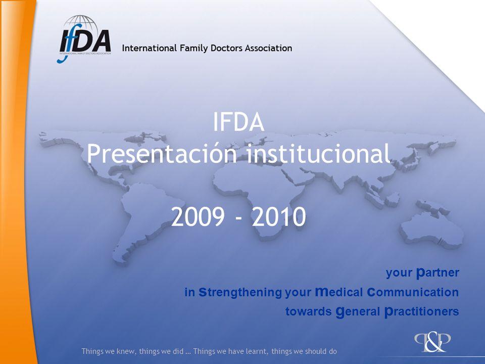 IFDA Presentación institucional 2009 - 2010