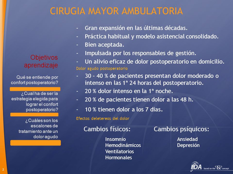 CIRUGIA MAYOR AMBULATORIA