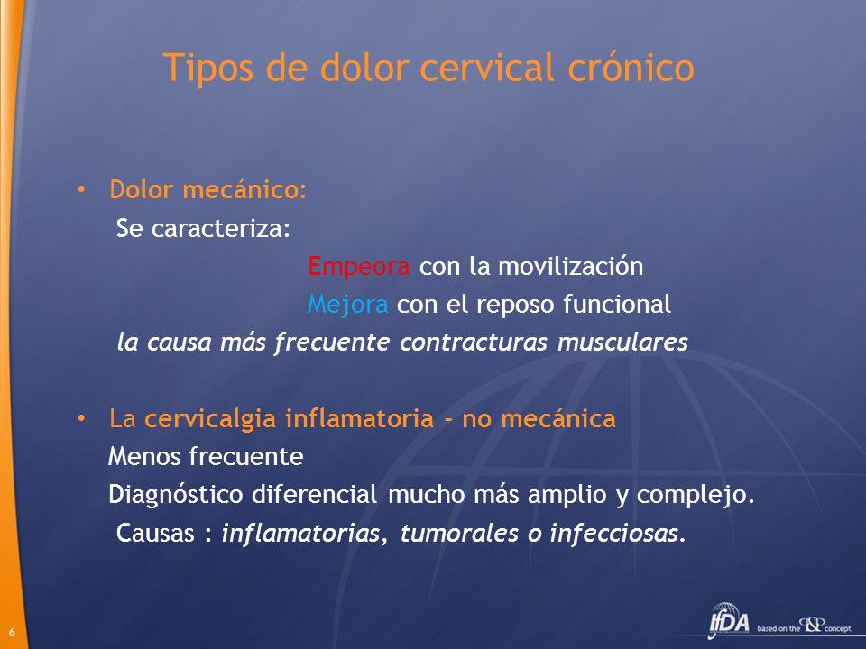 Tipos de dolor cervical crónico