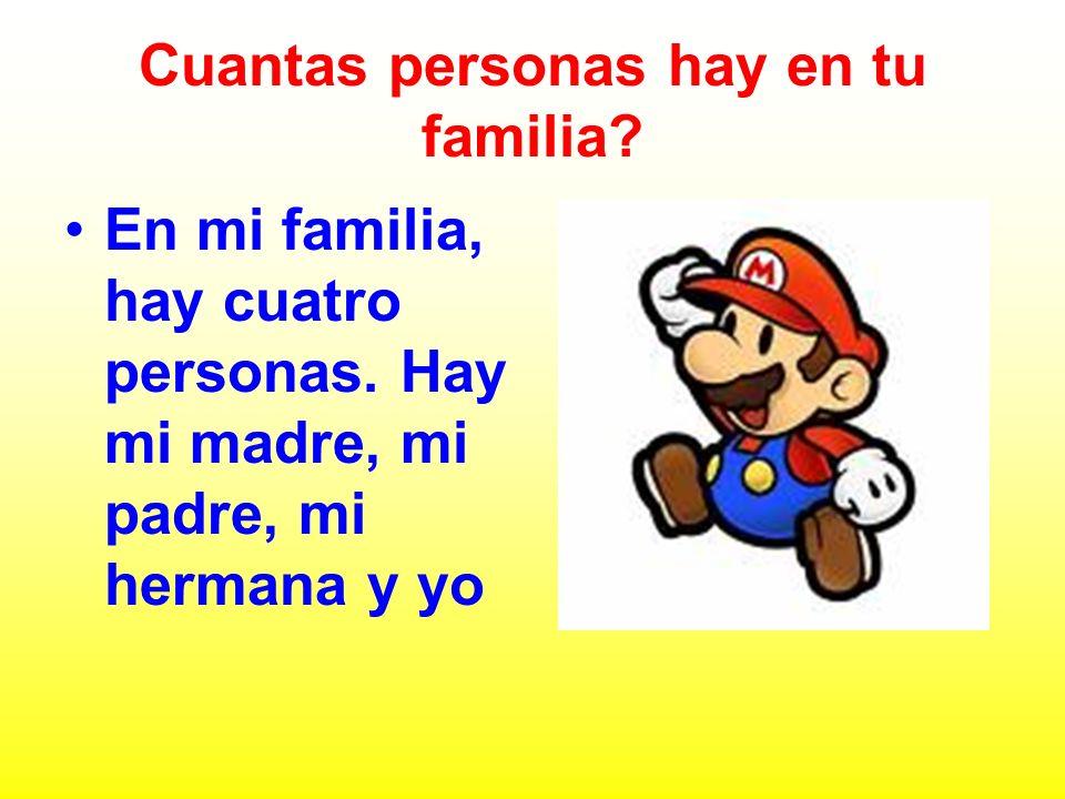 Cuantas personas hay en tu familia
