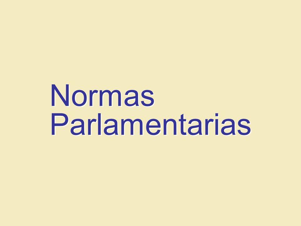 Normas Parlamentarias