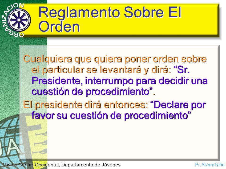 Reglamento Sobre El Orden