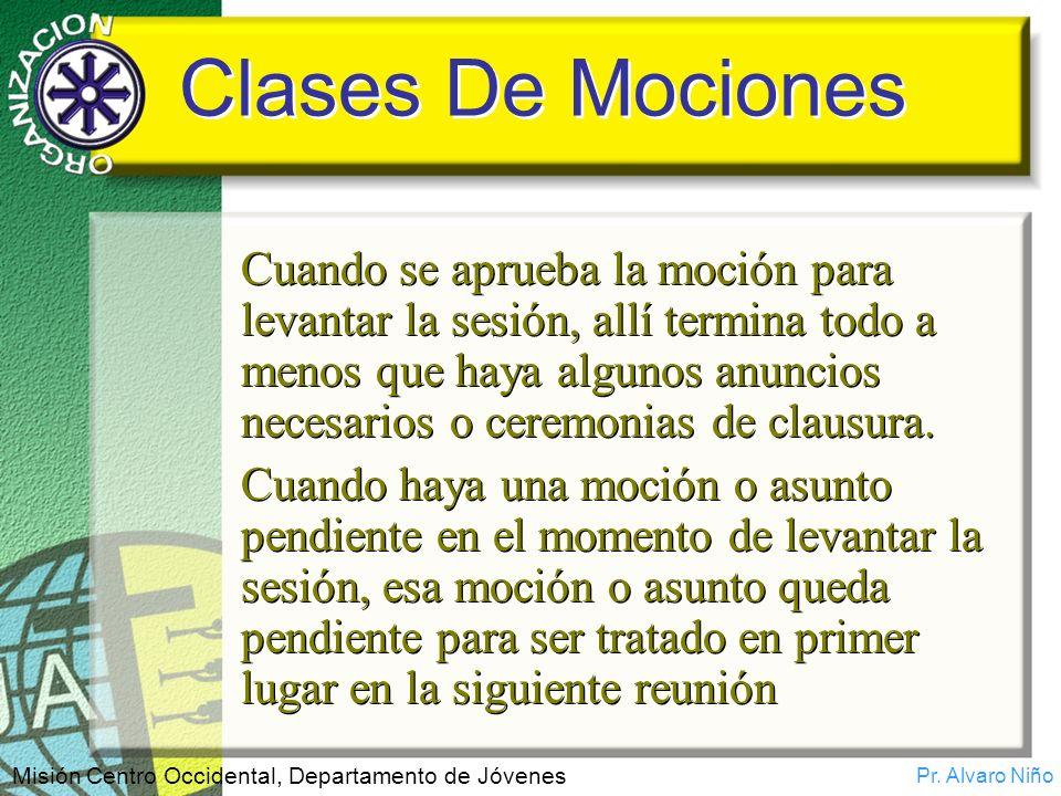 Clases De Mociones