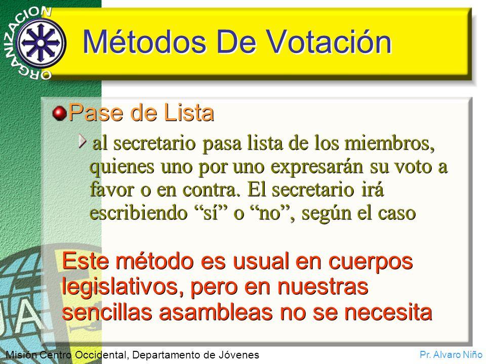Métodos De Votación Pase de Lista
