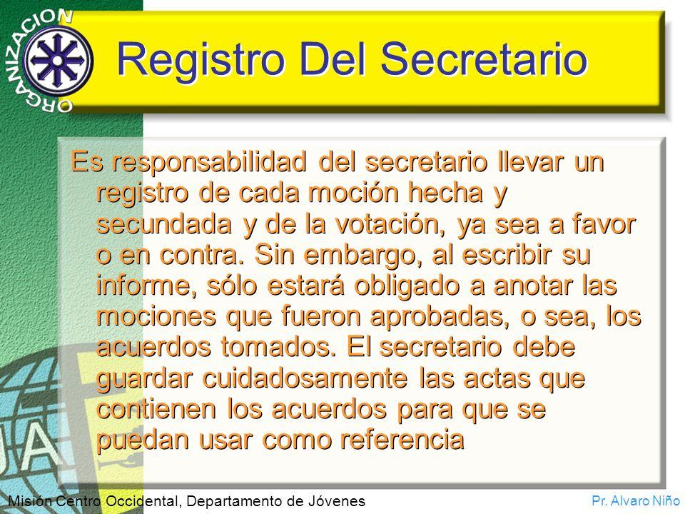 Registro Del Secretario