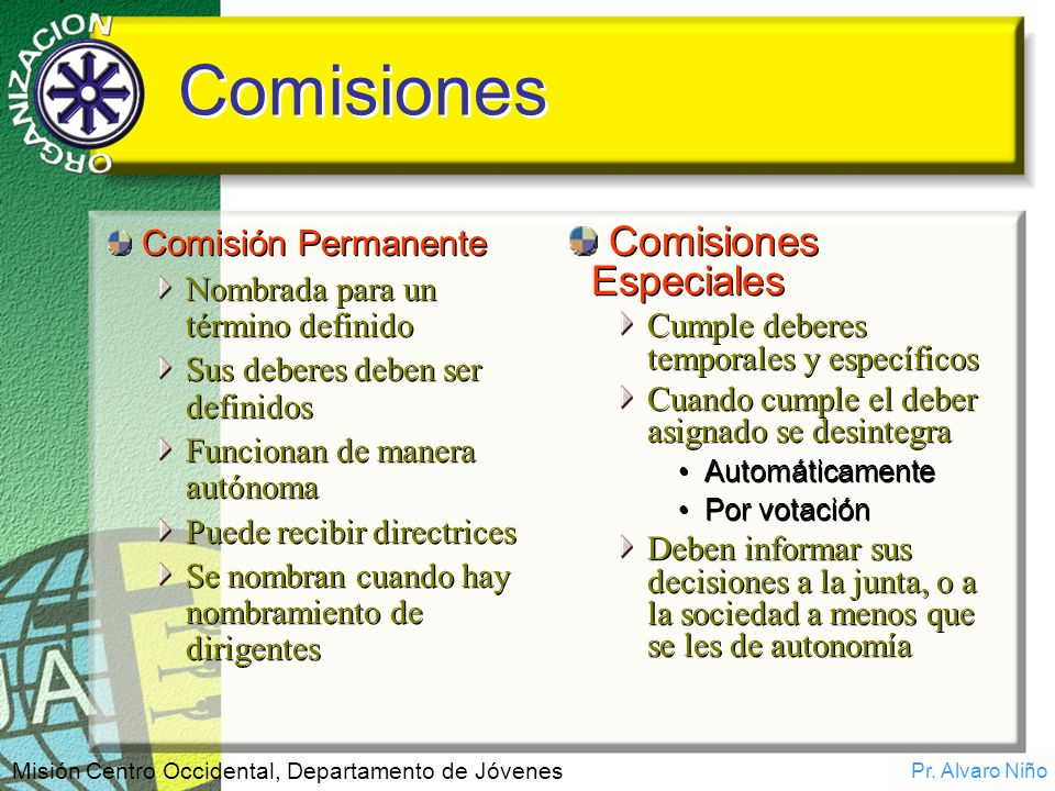 Comisiones Comisiones Especiales Comisión Permanente