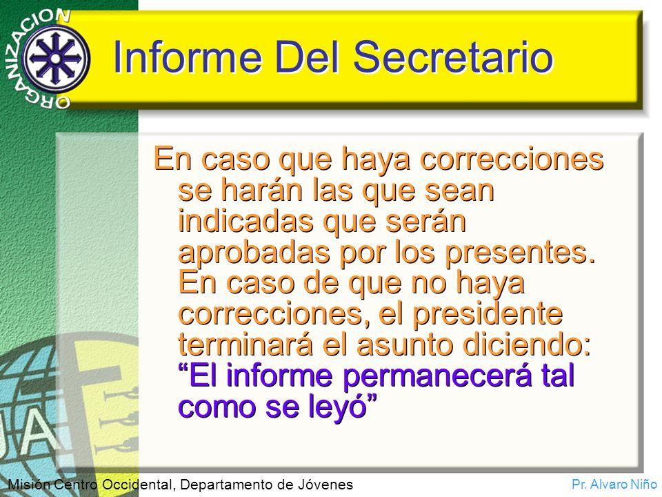 Informe Del Secretario