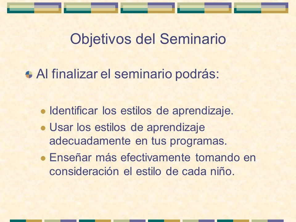Objetivos del Seminario