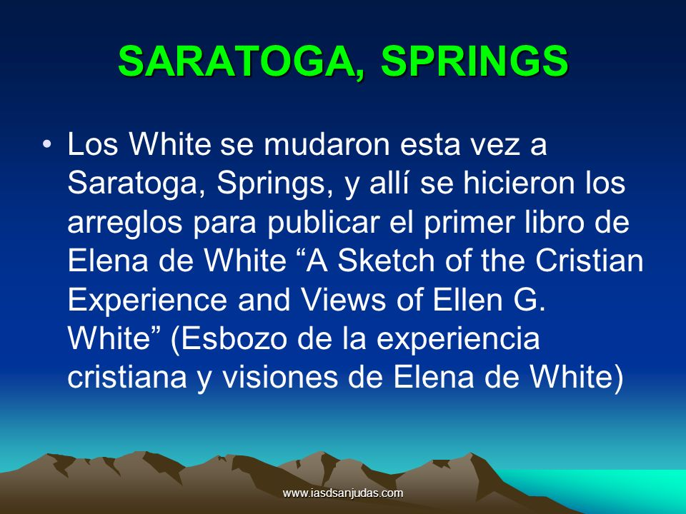 SARATOGA, SPRINGS