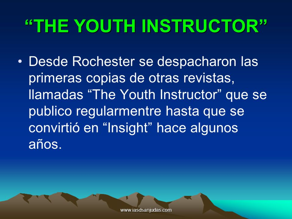 THE YOUTH INSTRUCTOR