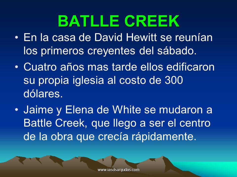 BATLLE CREEK En la casa de David Hewitt se reunían los primeros creyentes del sábado.