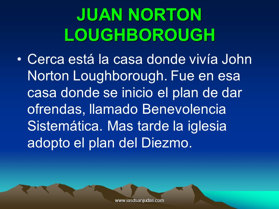 JUAN NORTON LOUGHBOROUGH