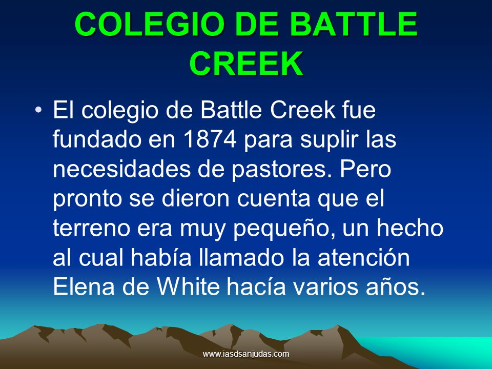 COLEGIO DE BATTLE CREEK