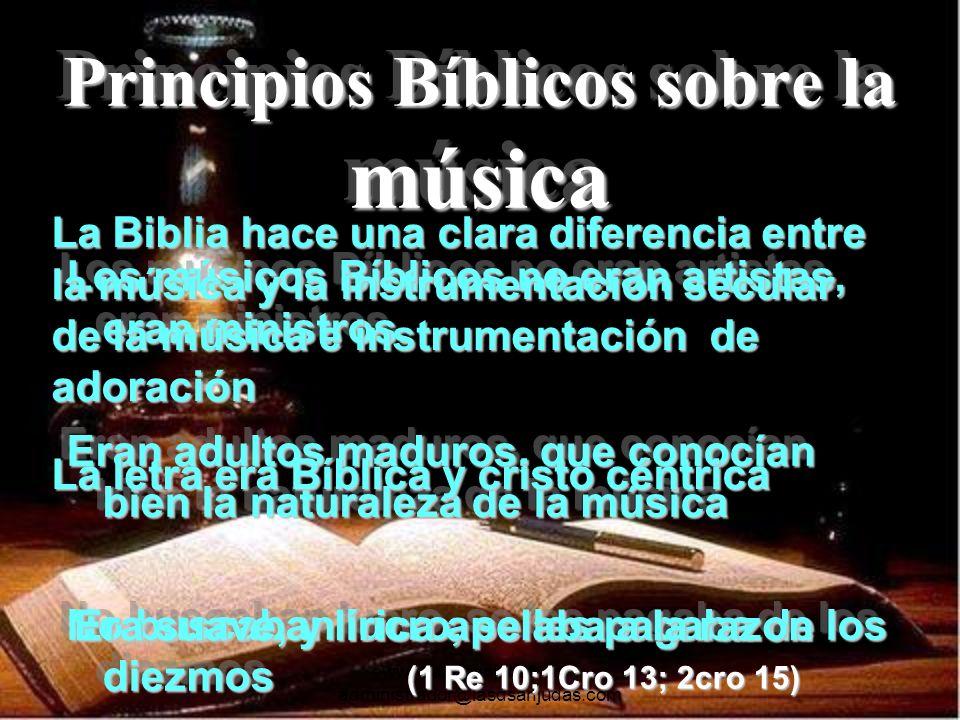 Principios Bíblicos sobre la música