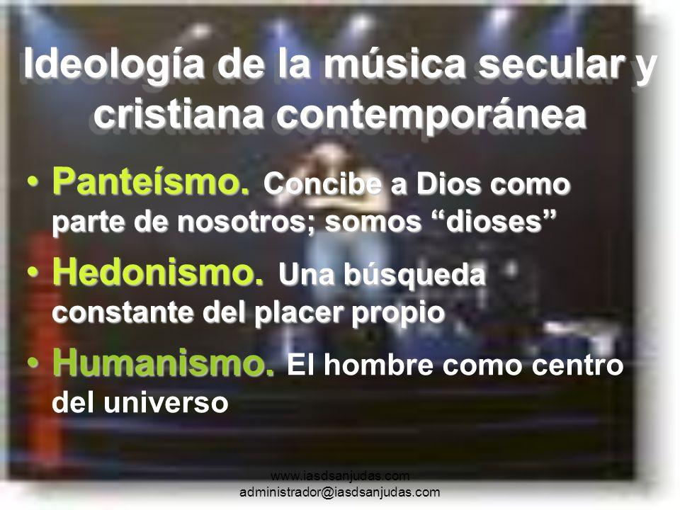 Ideología de la música secular y cristiana contemporánea