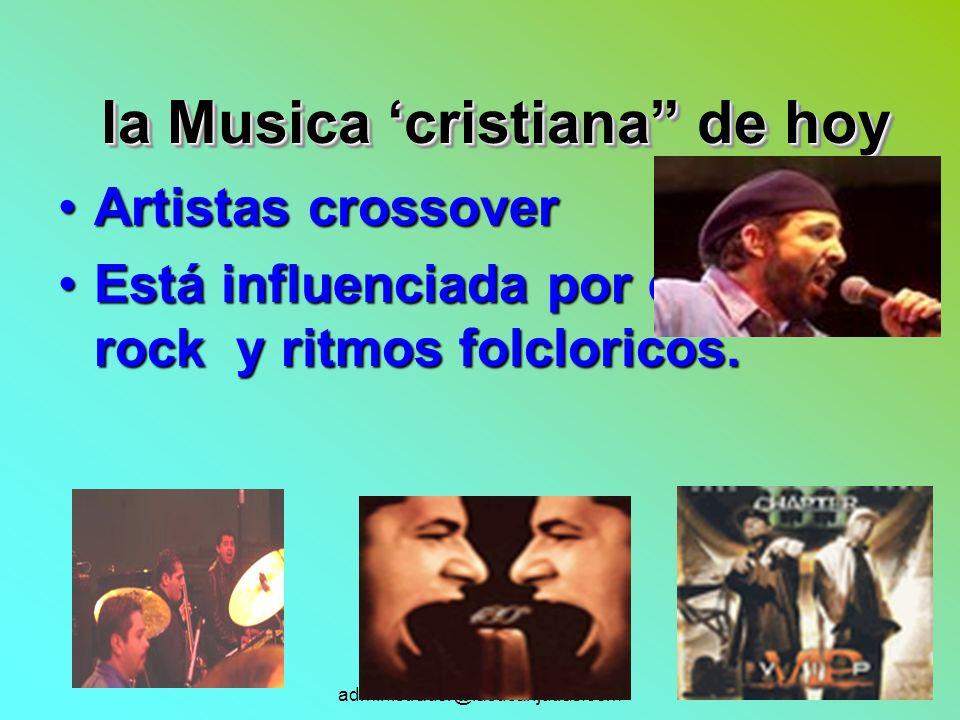 la Musica 'cristiana de hoy