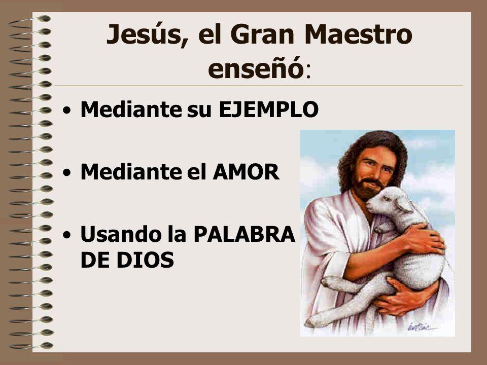Jesús, el Gran Maestro enseñó: