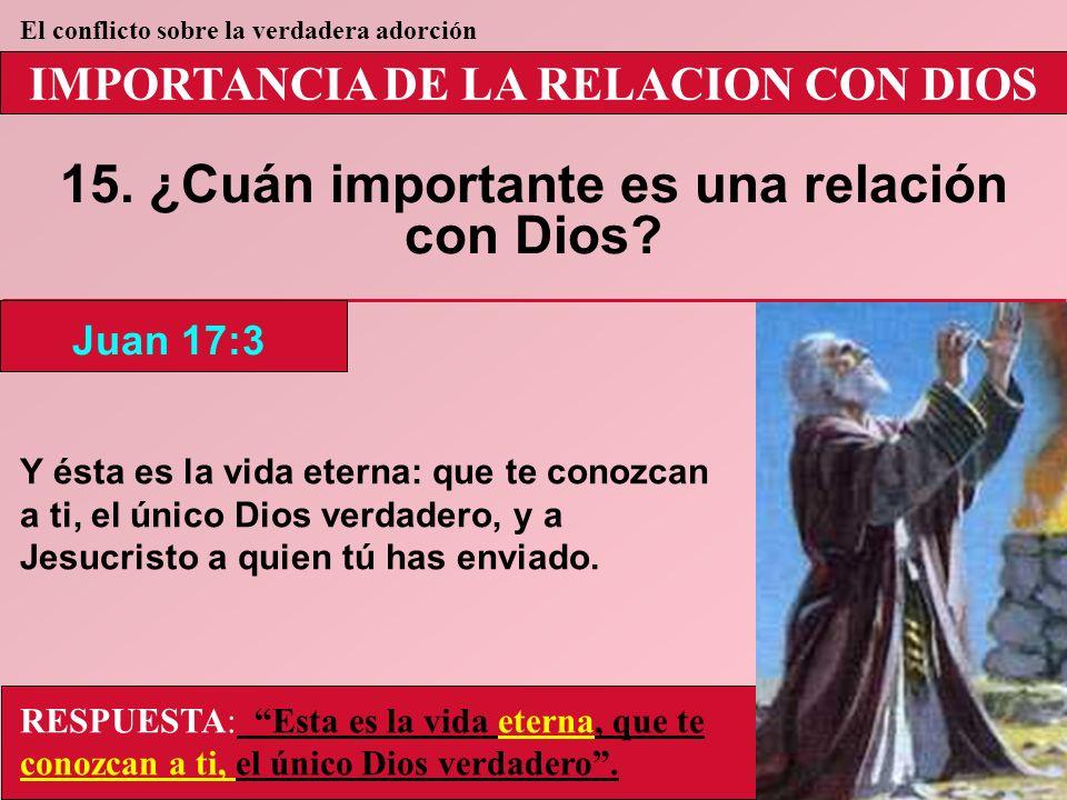 15. ¿Cuán importante es una relación con Dios