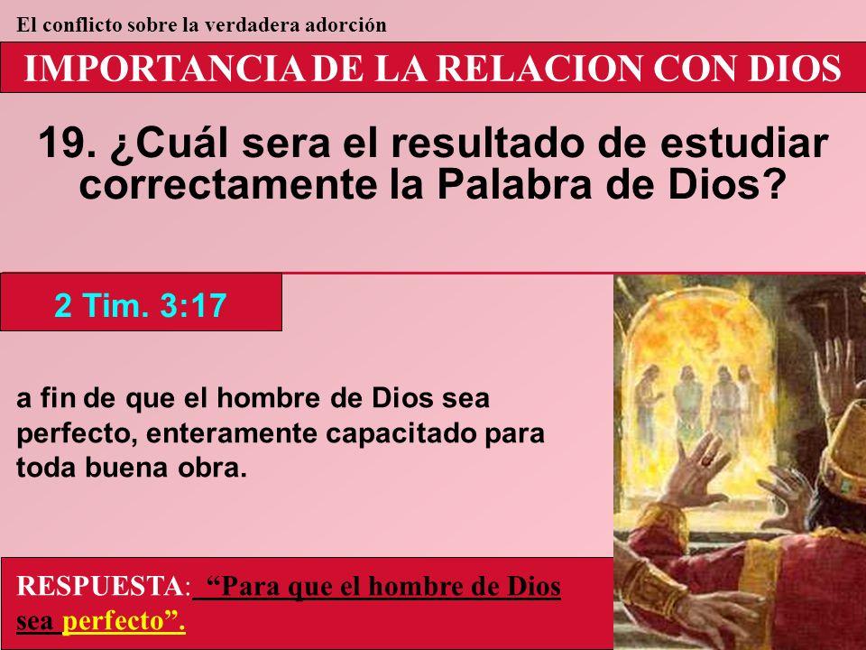 IMPORTANCIA DE LA RELACION CON DIOS