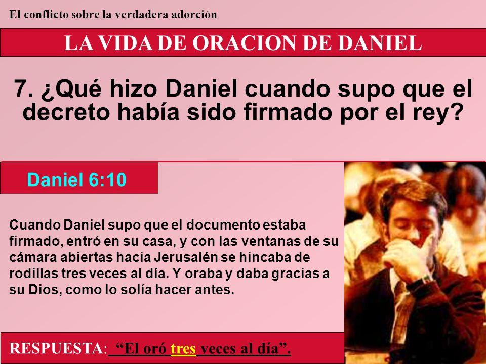 LA VIDA DE ORACION DE DANIEL