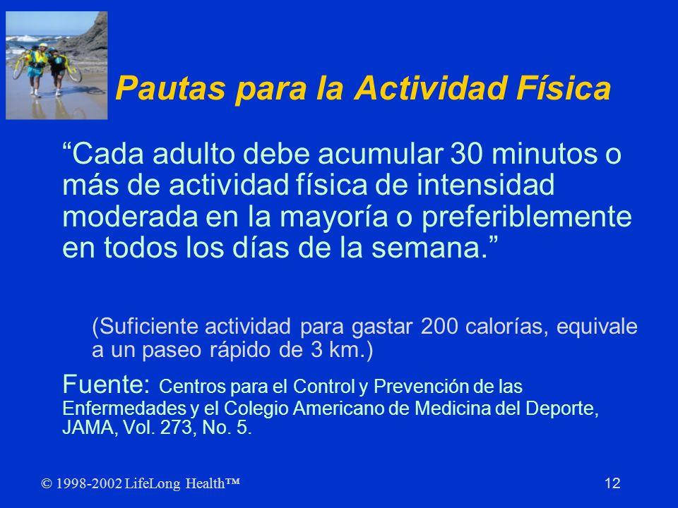 Pautas para la Actividad Física