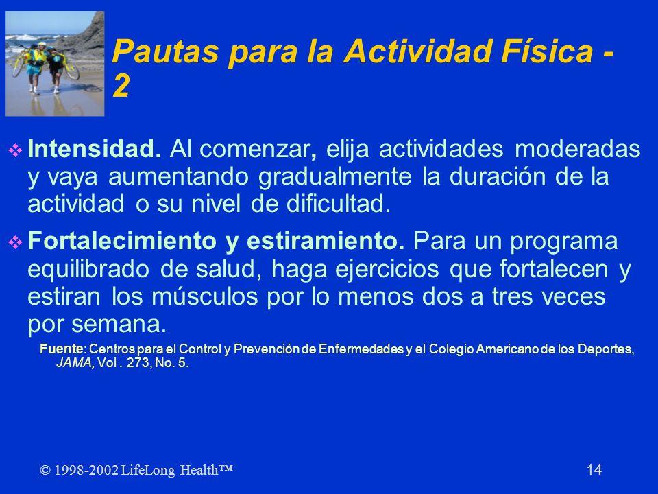 Pautas para la Actividad Física - 2