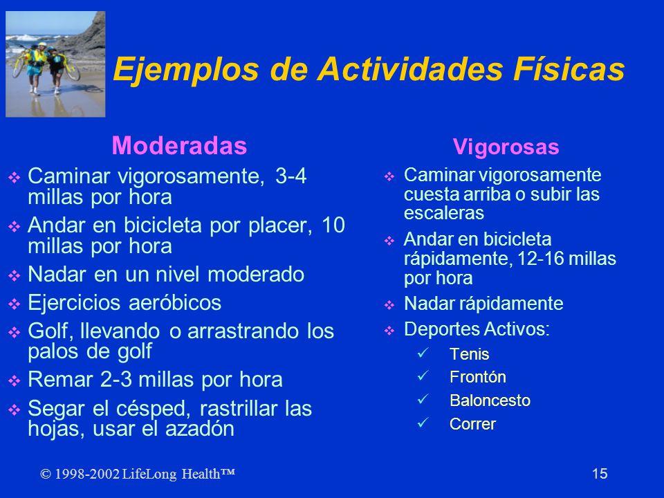Ejemplos de Actividades Físicas