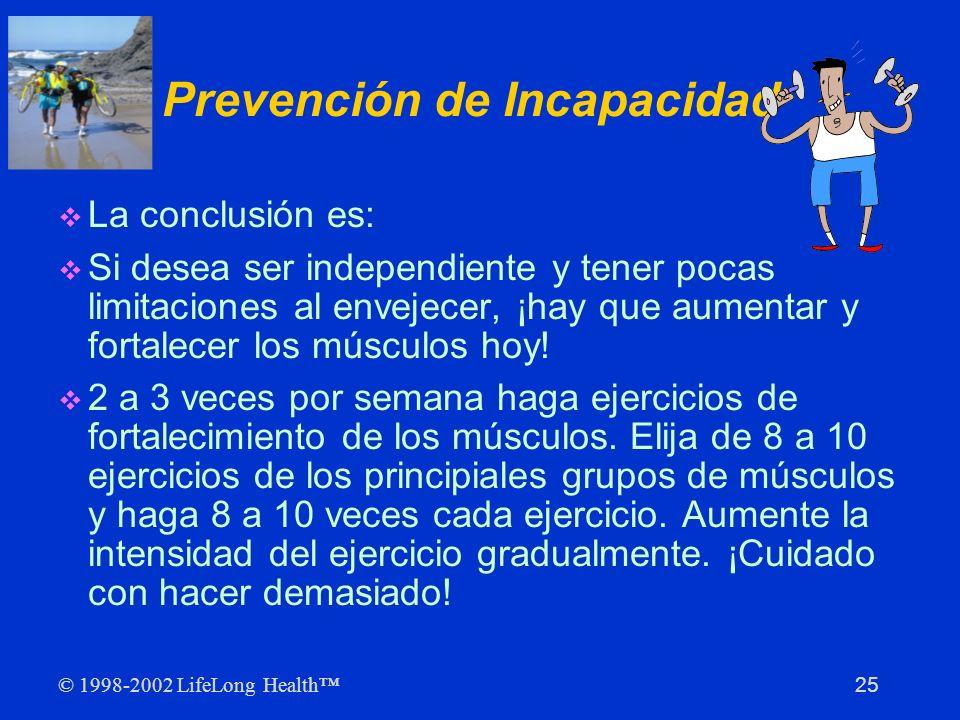 Prevención de Incapacidad