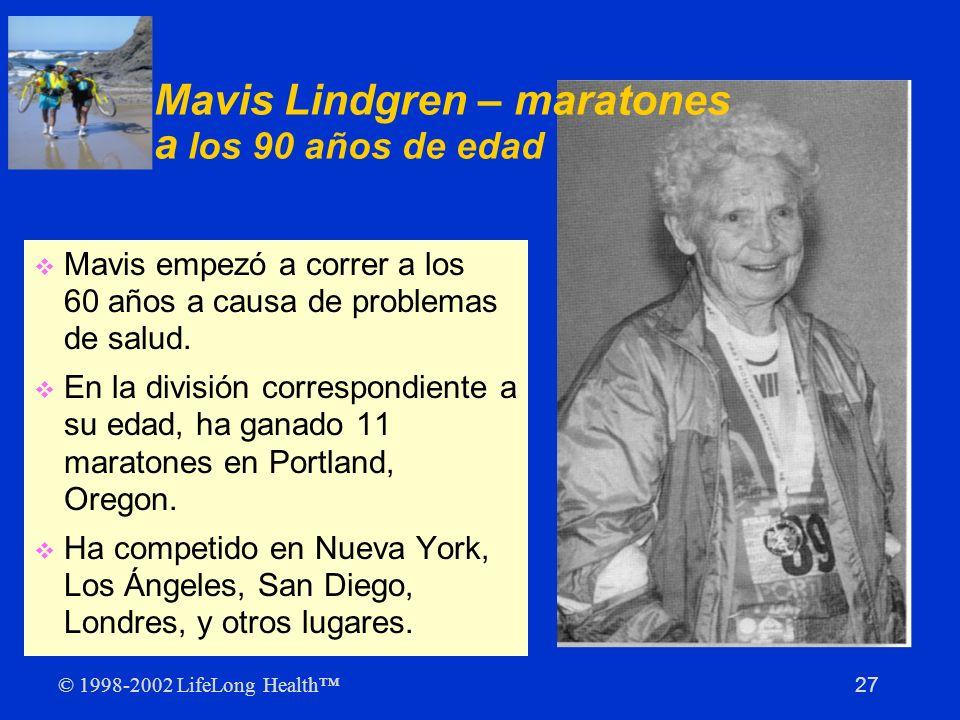 Mavis Lindgren – maratones a los 90 años de edad