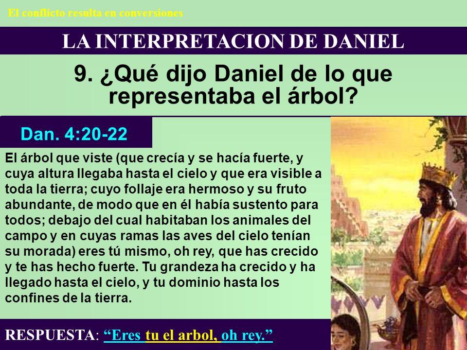 9. ¿Qué dijo Daniel de lo que representaba el árbol