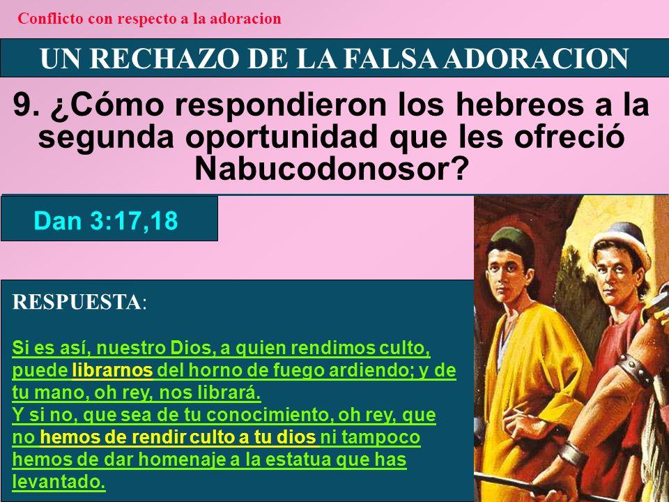 Conflicto con respecto a la adoracion UN RECHAZO DE LA FALSA ADORACION