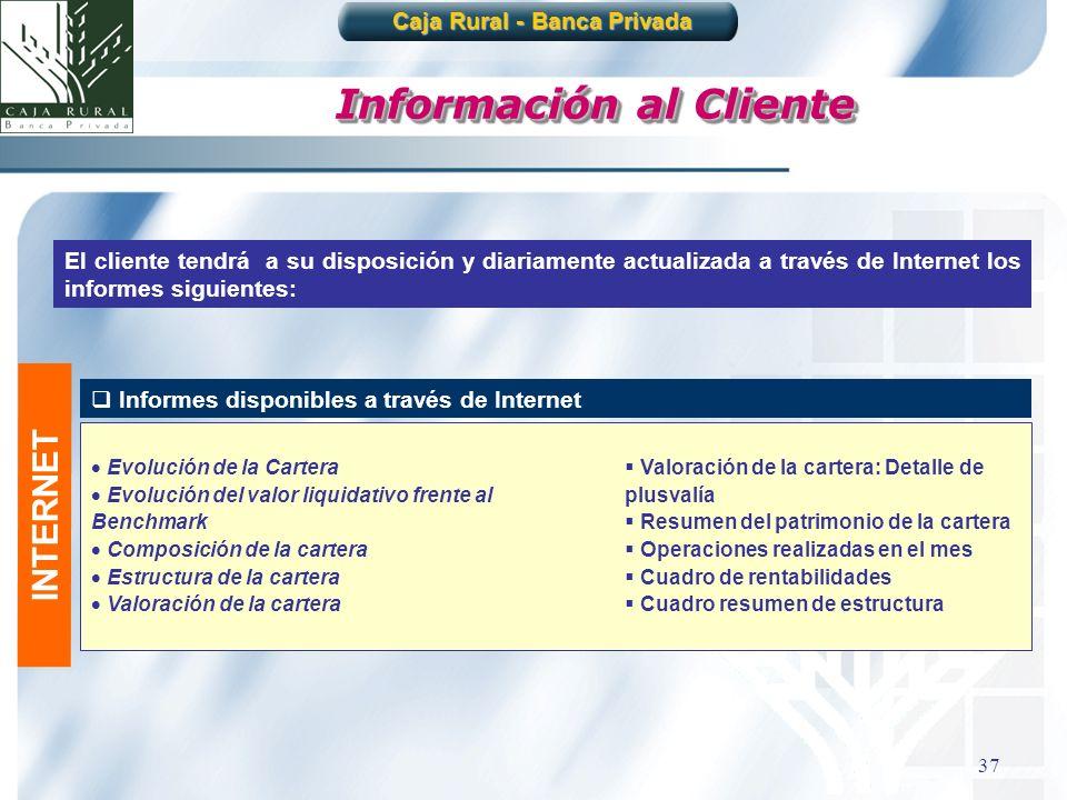 Caja Rural - Banca Privada Información al Cliente