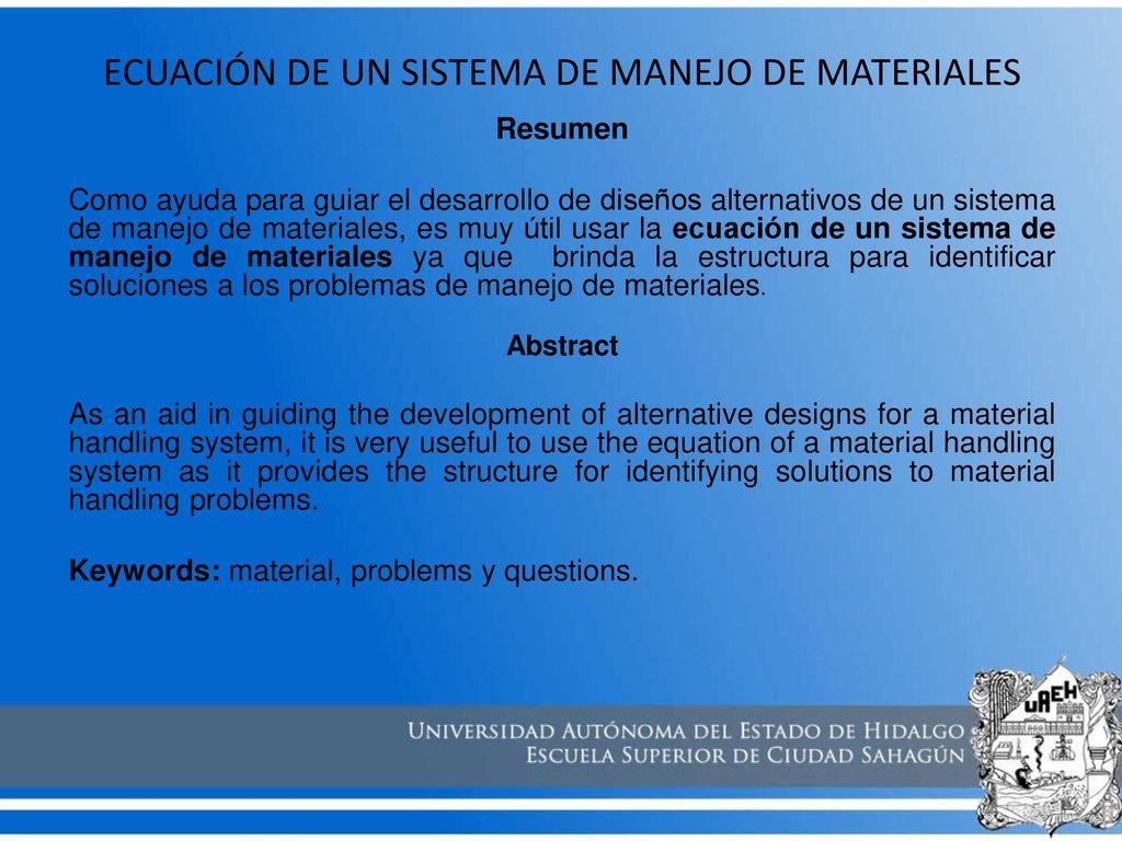 Moderno Reanudar Manejador De Materiales Imágenes - Ejemplo De ...