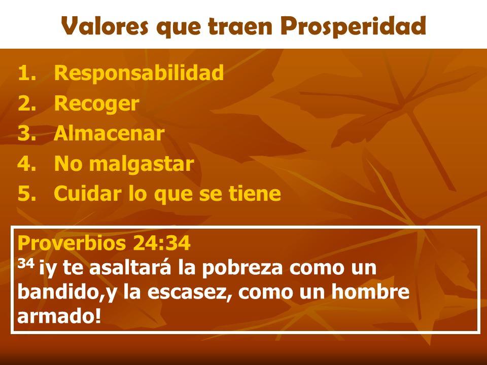 Valores que traen Prosperidad