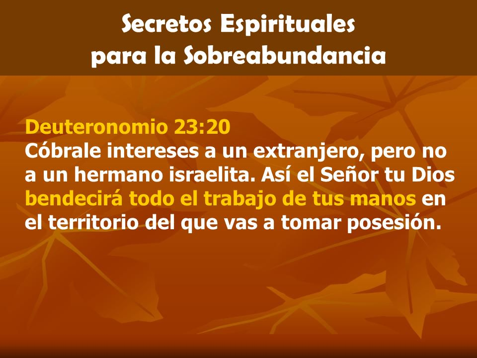 Secretos Espirituales para la Sobreabundancia