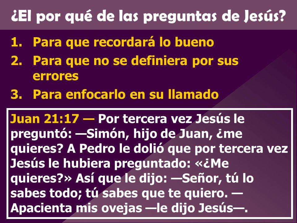 ¿El por qué de las preguntas de Jesús