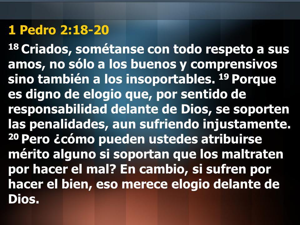 1 Pedro 2:18-20
