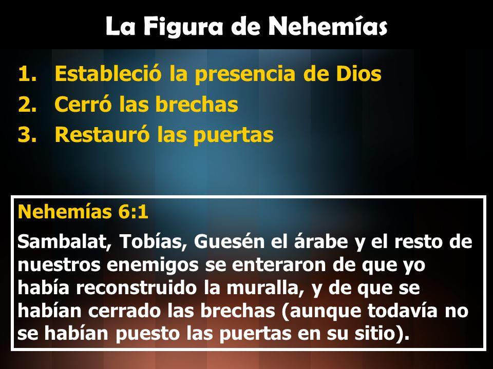 La Figura de Nehemías Estableció la presencia de Dios