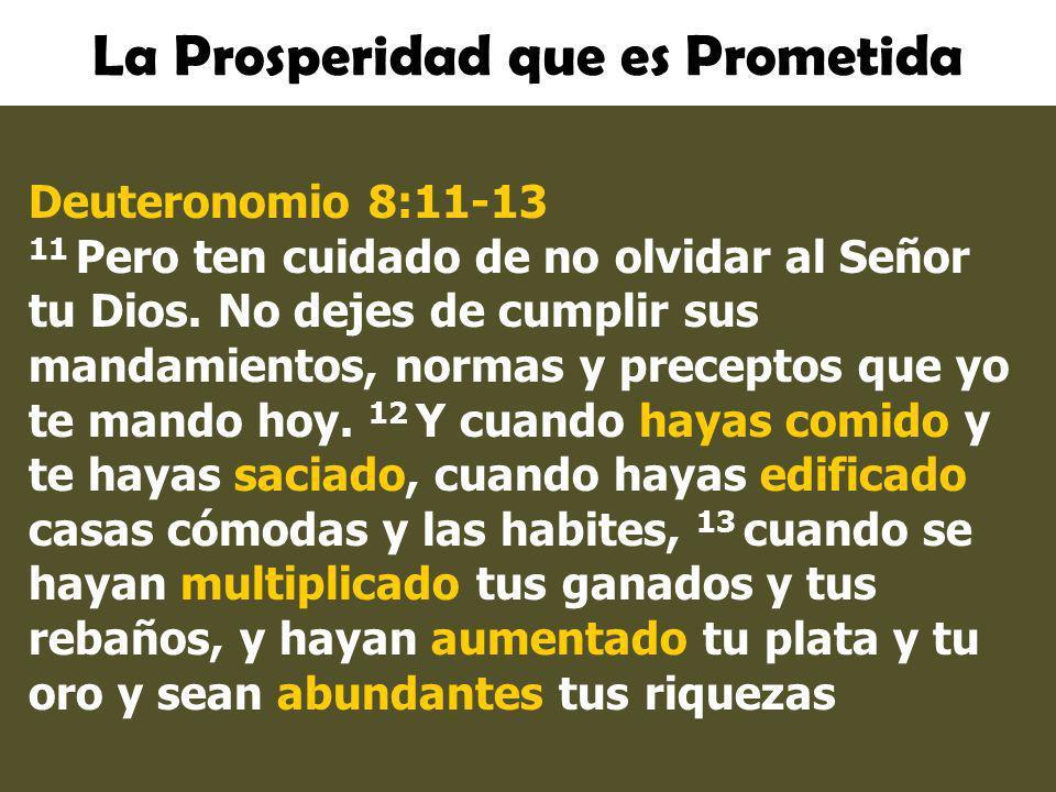 La Prosperidad que es Prometida
