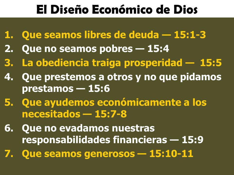 El Diseño Económico de Dios