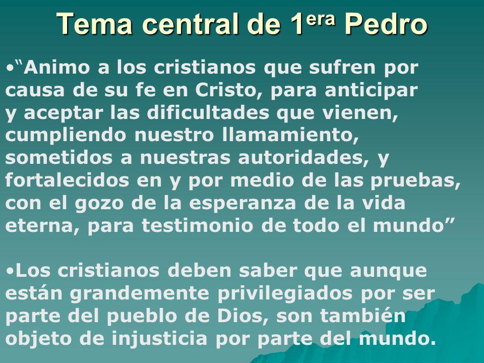 Tema central de 1era Pedro