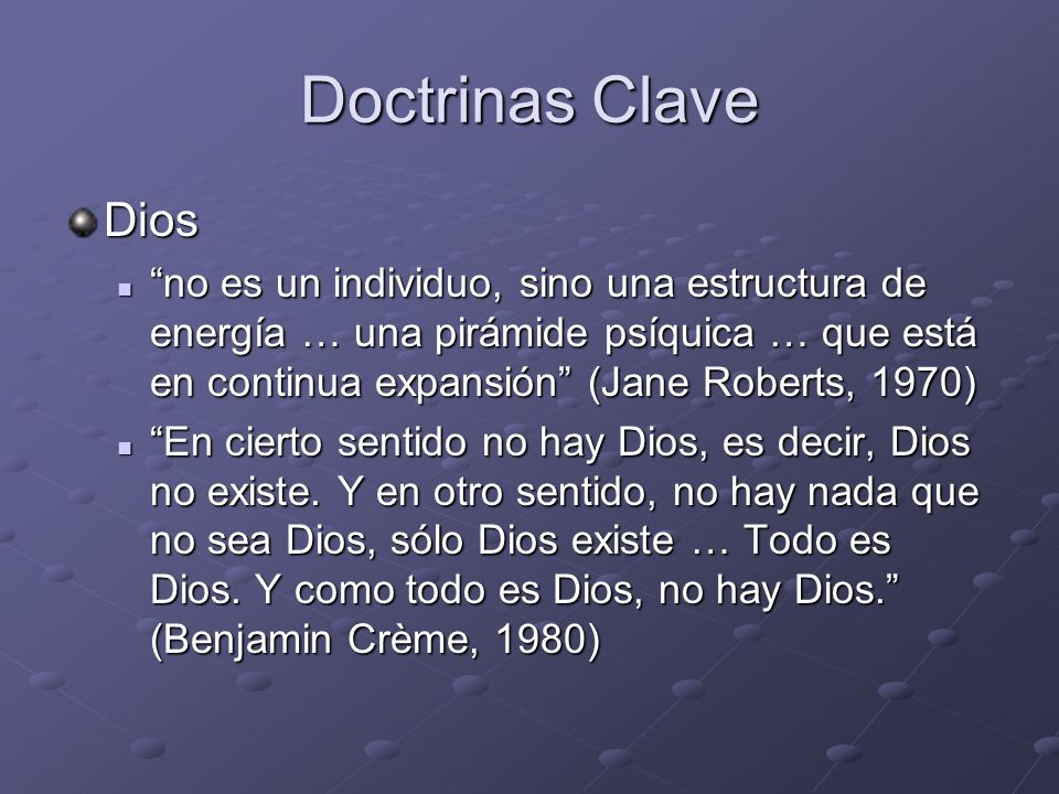 Doctrinas Clave Dios.