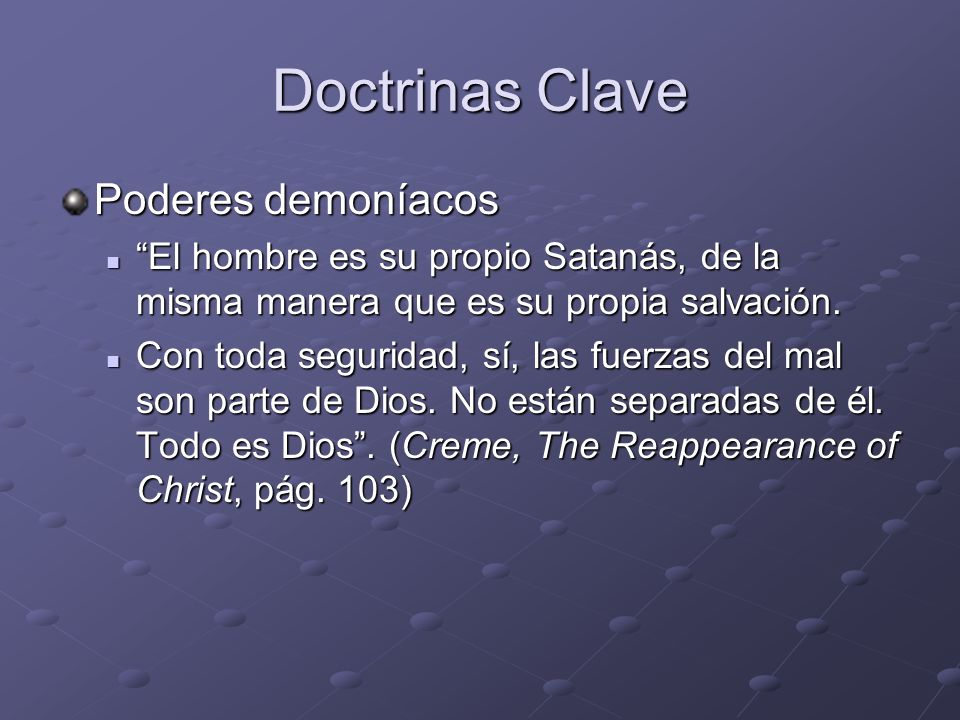 Doctrinas Clave Poderes demoníacos