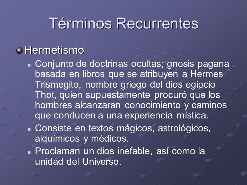Términos Recurrentes Hermetismo