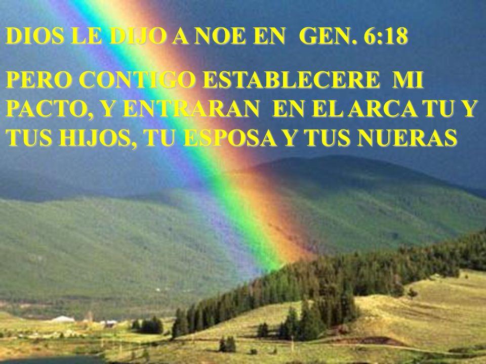 DIOS LE DIJO A NOE EN GEN. 6:18