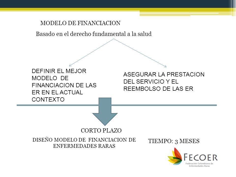 DISEÑO MODELO DE FINANCIACION DE ENFERMEDADES RARAS
