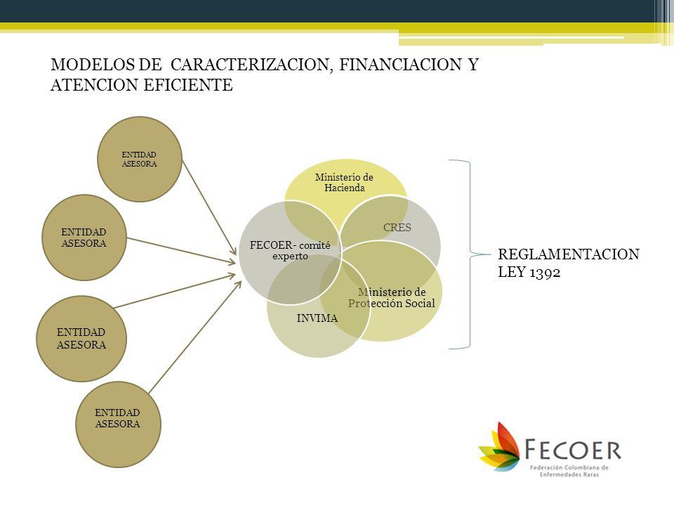 MODELOS DE CARACTERIZACION, FINANCIACION Y ATENCION EFICIENTE