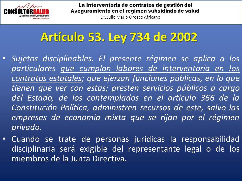 Artículo 53. Ley 734 de 2002