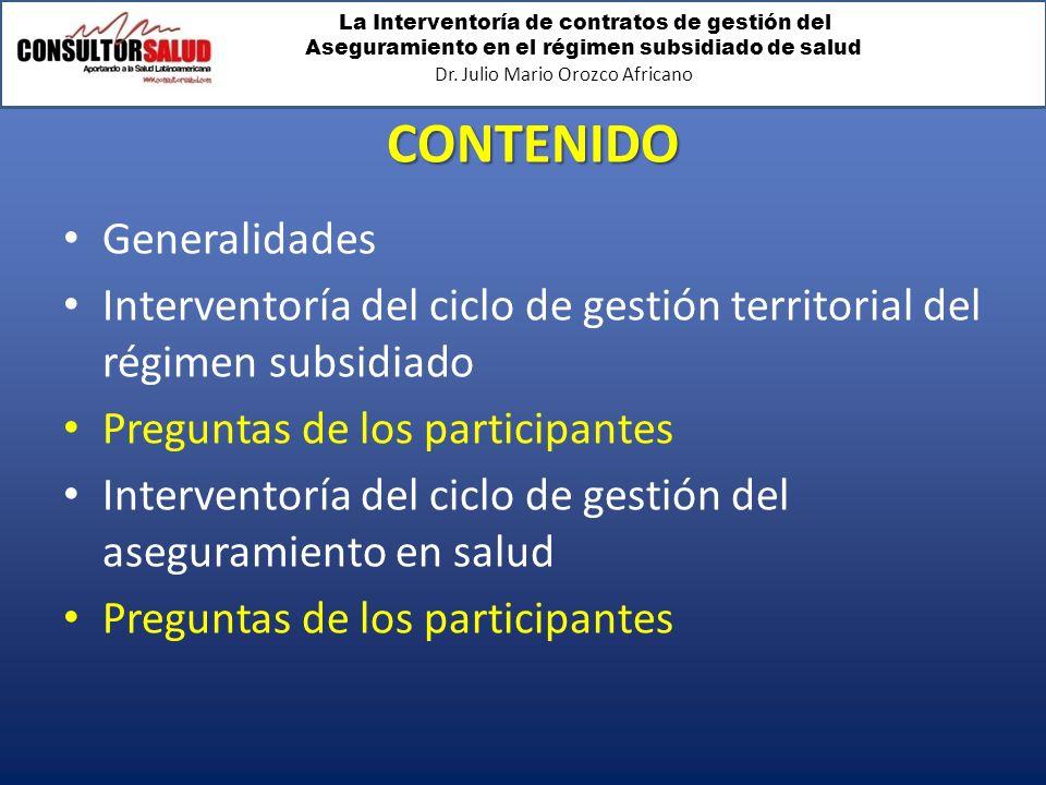 CONTENIDO Generalidades