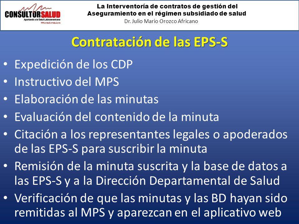 Contratación de las EPS-S